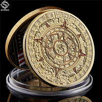 "Mexico Mayan Aztec Calendar Art Prophecy Culture 1.57""*0.12"" Gold Coins Collectibles"