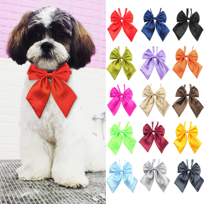 Wholesale Mix Colors Pet Cat Dog Bow Tie Puppy Grooming Products Adjustable Dog Bows Neck Tie Accessories For Dogs Pet Supplies