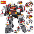 COGO 14834 Robots Warriors Car Ambulance Helicopter 11 models 807pcs Building Block Sets Educational DIY Bricks Toys
