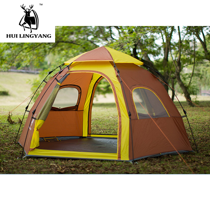Instant Family Tent 3-4 Person Large Automatic Pop Up Waterproof for Outdoor Sports Camping Hiking Travel Beach Tents barraca. laputa new car tent canopy manufacturers selling outdoor equipment automotive supplies camping tents for family