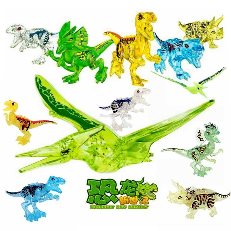 Legoing Dinosaur Jurassic World 2 Tyrannosaurus Rex Figures Building Block Gifts Compatible Legoinglys Animals Toys Bricks Movie