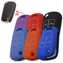6 color Silicone Key Cover For Vauxhall Opel Corsa Astra Vectra Signum 2 Button Remote Case Fob