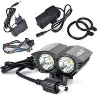 Cycling 6000Lm 2x XM L T6 LED Front Bike Bicycle Light Head Lamp 6400mAh Battery
