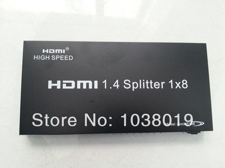все цены на Ibay-hs108,Free shipping,Factory provide,HDMI splitter,8 ports HDMI splitter-HDMI1-8 3D,1 port input 8 ports output онлайн