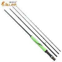 ILure 2017 Carbon Fiber Fishing Rod 4 SEC Medium Fast Action 5 6# 7 8# Fly Fishing Rods UL 110g 130g Fly Rod 2.28m 2.7m