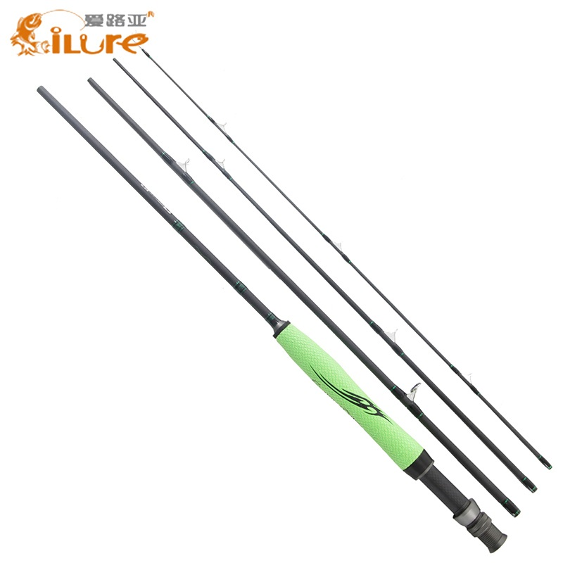 ILure 2017 Carbon Fiber Fishing Rod 4 SEC Medium Fast Action 5-6# 7-8# Fly Fishing Rods UL 110g 130g Fly Rod 2.28m 2.7m high quality 2 43m fly fishing 4 sections portable 66cm ultralight carbon fishing rod medium fast action fly rod tenkara fr166