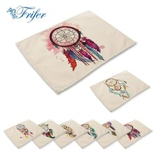 Colorful Hand-painted Catching Dream Cloth Printed Napkins Patterns Placemats Printing Cotton Linen Placemat Table Napkin