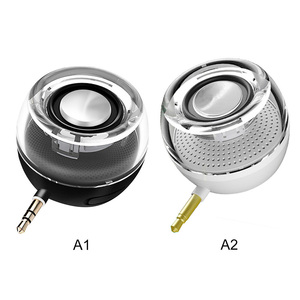 Image 5 - Hot F10 Portable HIFI 3D Surround 3.5mm Aux Audio Jack Mini Wireless Powerful Crystal Speaker for Smart Phone Tablet