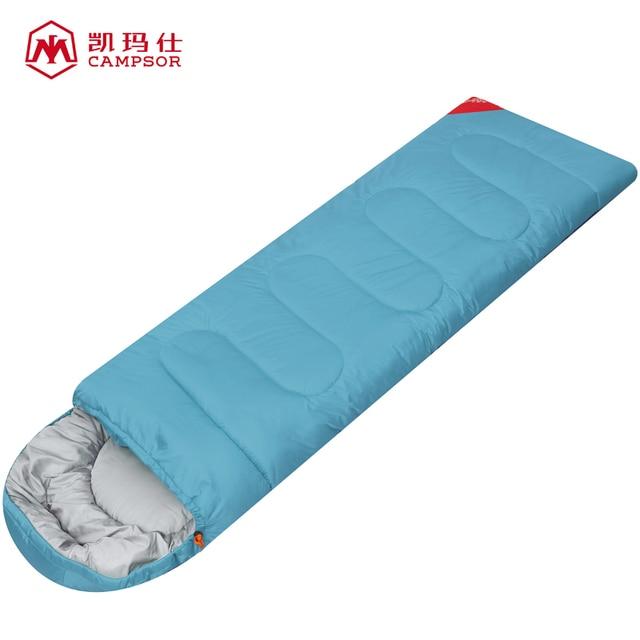 Campsor Outdoor Camping Waterproof Cotton Sleeping Bag Spring Autumn Down 3 Season Nylon