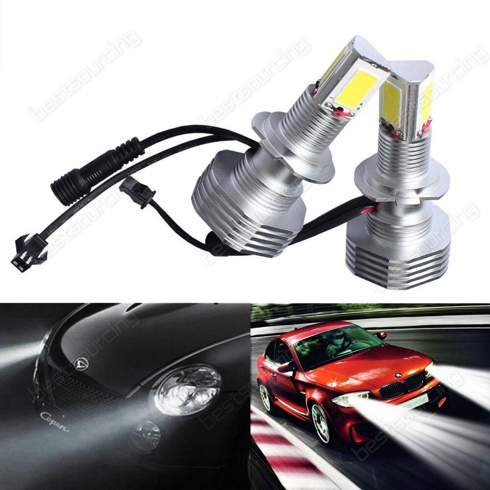2x H7 499 High Power COB LED 60W 7600lm HeadLight Daytime Fog Light No Error(CA226)
