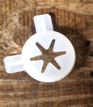 Kitchen Appliance Parts White Color Hexagram Star Modelling Caps Of Ice Cream Machine Spare Part Accessories Wide Varieties