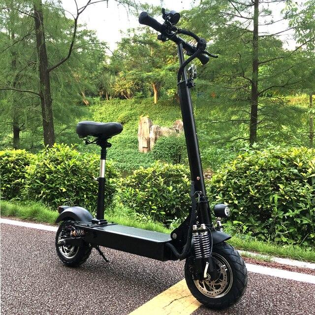 FLJ 2400 W два двигателя Электрический скутер с сиденье скутера сильный Мощный взрослых складной электрический скутер