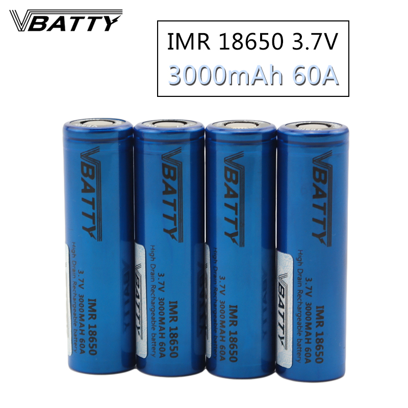 Бесплатная доставка Vbatty IMR18650 60A 3000 мАч для фонарика 18650 Держатель 18650 коробка мод дым vape ecig батарея 3,7 V (4 шт)|18650 box|battery 1865018650 battery - AliExpress