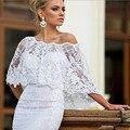 Новый Кружева Аппликации Элегантные Свадебные Куртка Белый Мода С Плеча Свадебные Обертывания Женщины Шали Свадебные Аксессуары Болеро