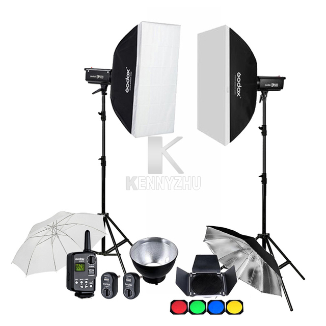 Us 607 95 5 Off Godox 2x 600w Studio Flash Strobe Dp600 600ws Gn80 Photography Lighting Kit 70x100cm Softbox 2 8m Light Stand Trigger Ft 16 In
