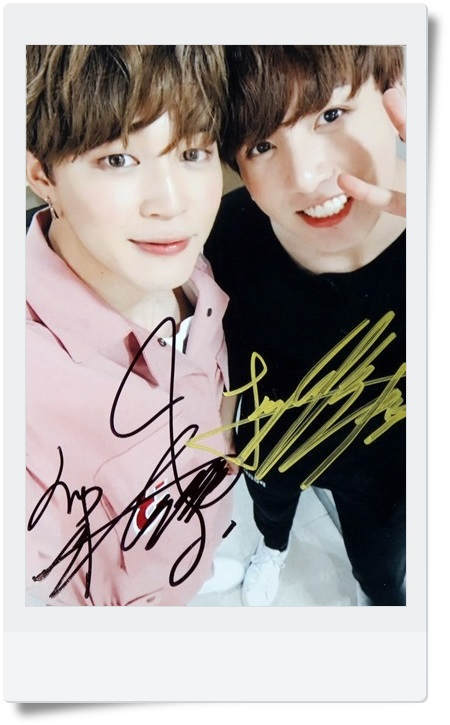 Signed BTS JIMIN J-HOPE Autographed  group photo  4*6 free shipping  K-POP 062017