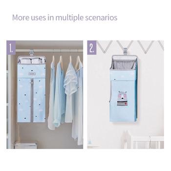 Sunveno Baby Storage Organizer Crib Hanging Storage Bag Caddy Organizer for Baby Essentials Bedding Set Diaper