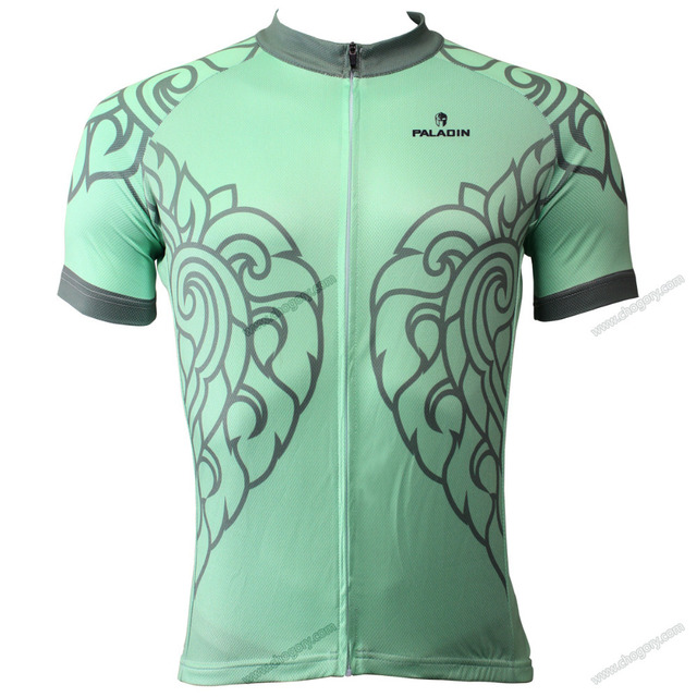 Green coolest bike riding clothes for summer short sleeve cycling jersey  personalised for mens XXXL 66e130d90