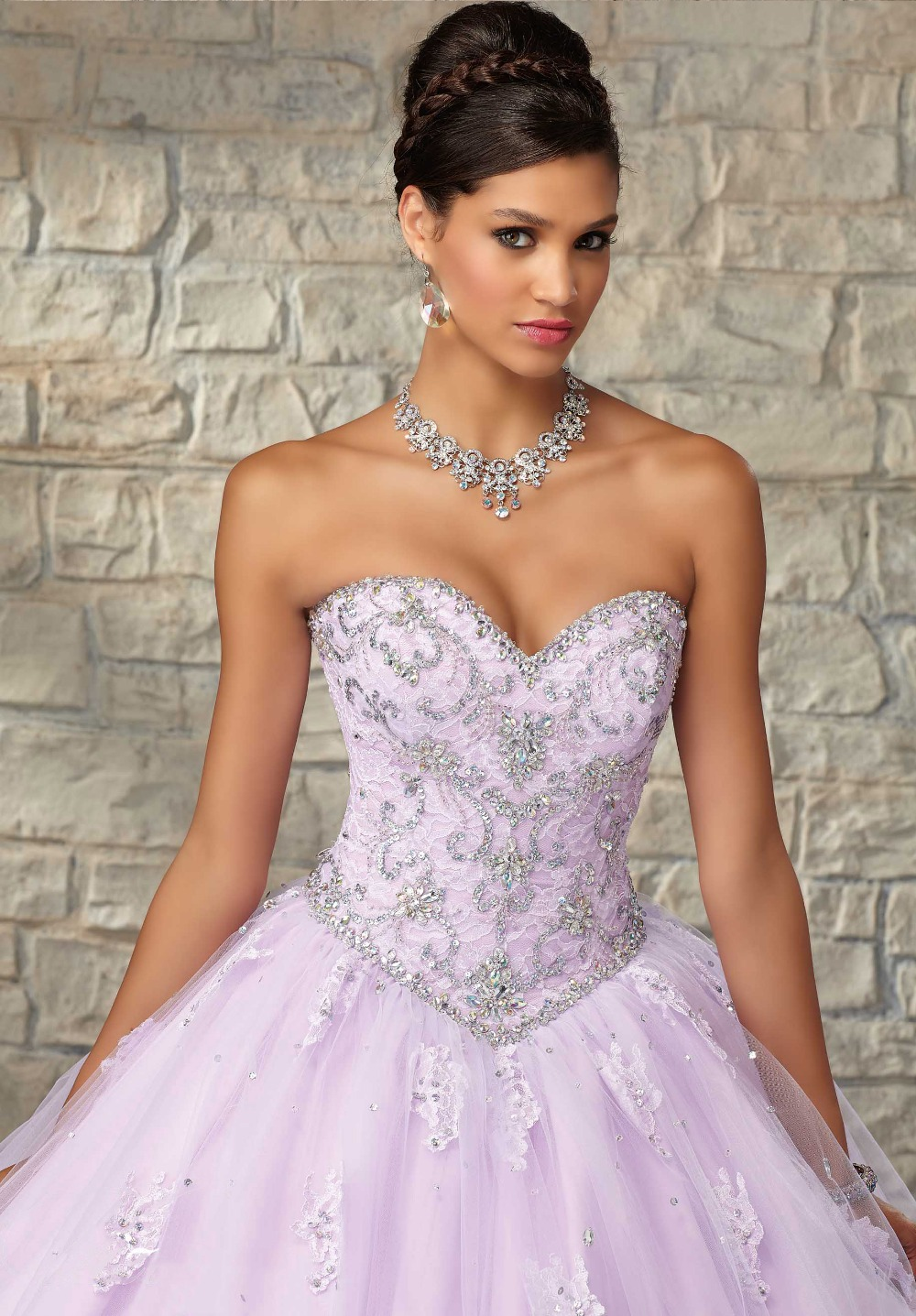 Masquerade Ball Gowns Cheap Quinceanera Dresses Light Purple Luxury ...