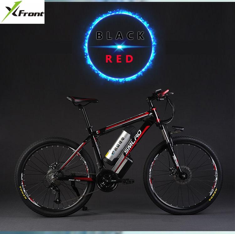 Original x-front marca 26 pulgadas 48 V 500 W 12A batería de litio bicicleta eléctrica de montaña 27 velocidades eléctrica bicicleta cuesta abajo ebike
