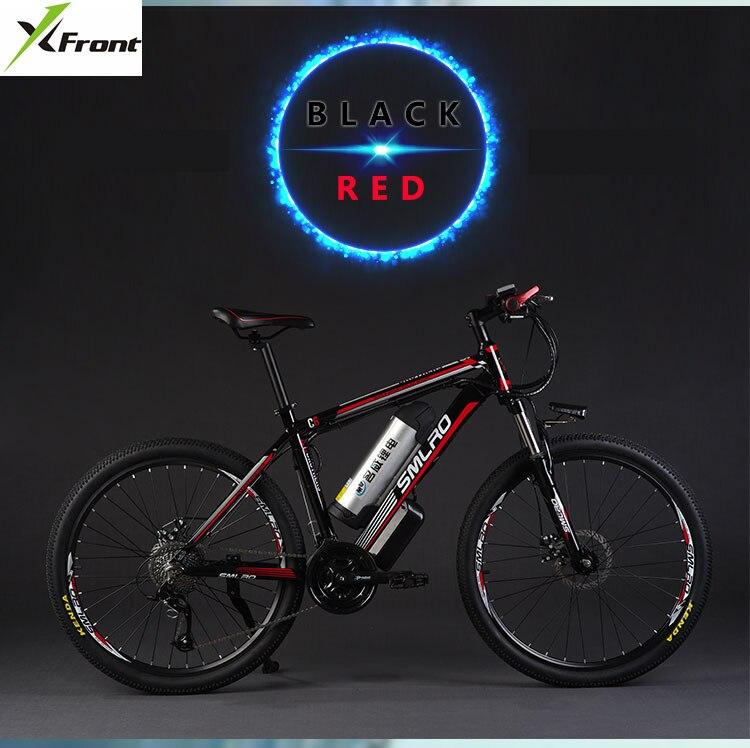 Original x-frente marca 26 polegada 48 v 500 w bateria de lítio 12a mountain bike elétrica 27 velocidade bicicleta elétrica downhill ebike