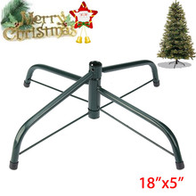 4 Feet Christmas Tree Stand Green Metal Holder Base Cast Iron Stand Decor Christmas Tree Accessories for Home 4 Sizes