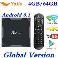 Android 8.1 TV Box X96 Max Amlogic S905X2 4K Media Player 4GB RAM 64G X96Max QuadCore 2.4G&5G Dual Wifi pk T9 H96 MAX Plus