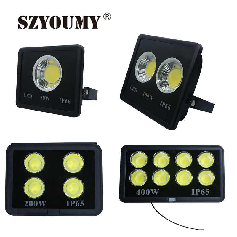 SZYOUMY Super Bright 200W COB Led Flood Light 400W 500W 600W Waterproof Led Reflector Outdoor Lamp Led Floodlight Street Lamp