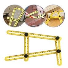 Многофункциональный угол линейки деятельности шаблон 4 Складной угол измерительная модель инструмент кирпичная плитка деревянный угол складной транспортир