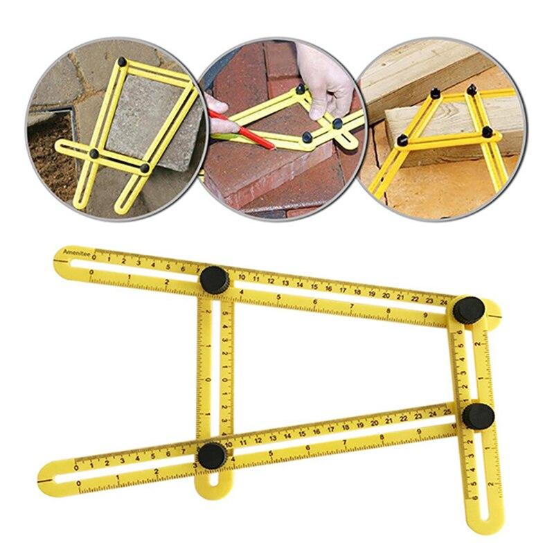 Multi Angle Ruler Activities Template 4 Folding Angle Measuring Model Tool Instrument Brick Tile Wood Corner Foldable Protractor