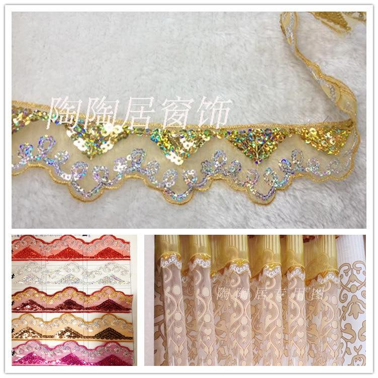 Lace fabric Home curtain Delicate LaceTrimming, vyšívané krajky, Window Curtain krajky na prodej Ozdobné látky Šicí příslušenství