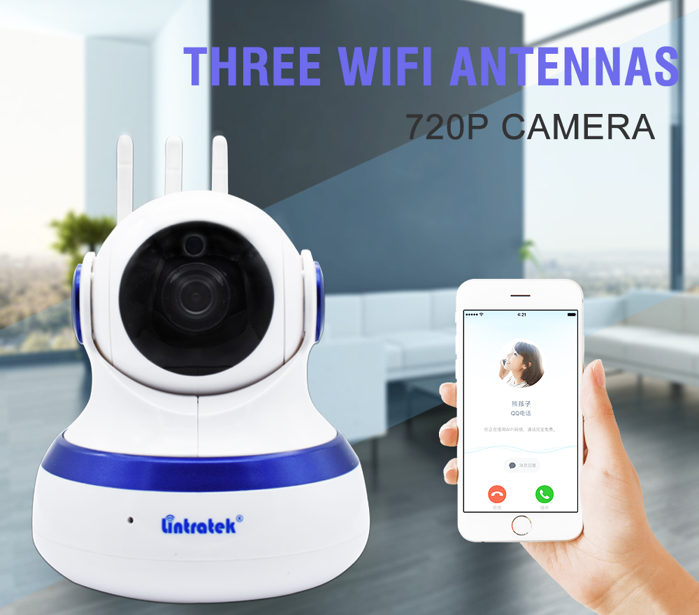 Lintratek Cloud Storage Wifi Camera Home CCTV Security 1MP HD 720P IP Camera PTZ Wireless IP Camera Baby Monitor Two Way Audio ssicon full hd 720p mini ip camera wireless home security ptz camera hd 720p baby monitor two ways audio cctv wifi camera