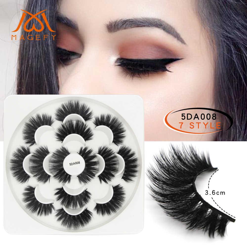 88a8e522aa8 MAGEFY New 1/7 Pairs Natural False Eyelashes Fake Lashes Long Makeup 3d  Mink Lashes