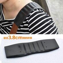 Черный 38 мм нескользящим плечевым ремнем резиновая прокладка армейского класса 2 шт поделки кожаный рюкзак Наплечные сумки, швейные принадлежности