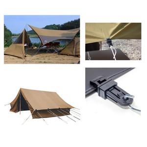 Image 5 - 6 個テント 8.2*3.1 cmAwning 風ロープクランプ日よけ屋外のキャンプ旅行プラスチッククリップクリップテント日よけアクセサリー
