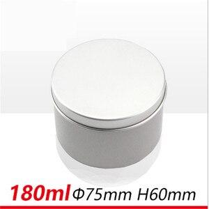 Image 4 - Hurtownie 180g srebrny aluminium świeca Jar Mental pojemniki na świecę Reuse DIY wysokiej jakości pusty słoik z pokrywką 27 ps/partia pusty