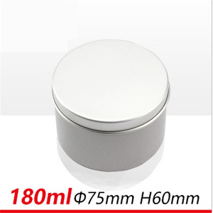 Image 4 - Wholesale 180g Silver Aluminum Candle Jar Mental Containers For Candle Reuse DIY High Quality Empty Jar With Lid 320ps/lot Empty