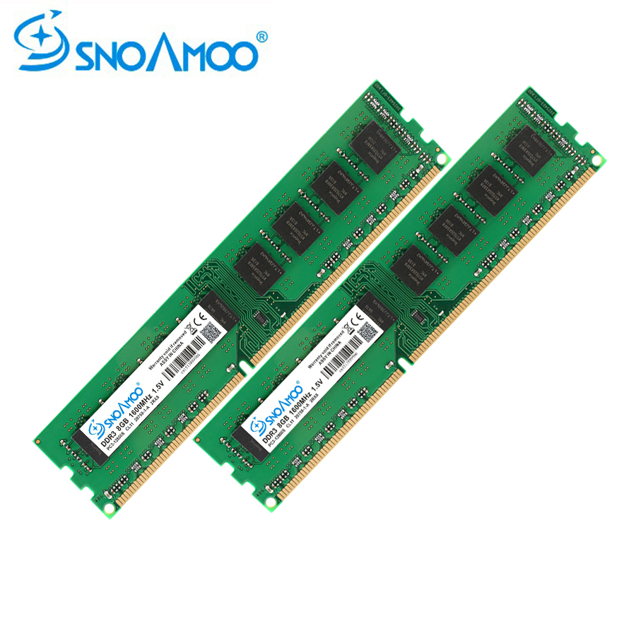 SNOAMOO <font><b>DDR3</b></font> Desktop PC Memory 8GB 1600MHz PC3-12800S 1333MHz <font><b>4GB</b></font> 240pin For Intel System High Compatible Computer RAMs Warranty image