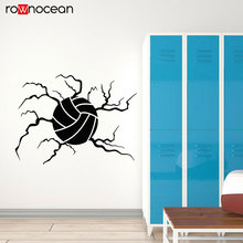 Beach Volleyball Ball Sport Game Vinyl Stickers Breaking The Wall Mural Home Decor For Kids Room School Decals Removable 3461