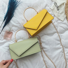 2019 High-quality PU Leather Chain Mobile Phone Shoulder bags Small Square Bag Ladies Fashion Handbag Shoulder bag Messenger bag