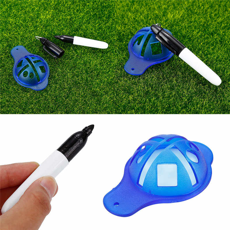 1 PCS ABS Materiaal Golfbal Liner Marker Template Tekening Alignment Tool Pen Training Golf Accessoires Practice Alignment