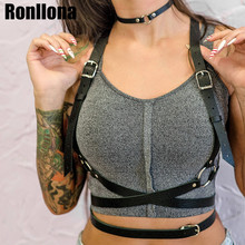Leather Harness For Female Punk Goth Harajuku Bust Cage Body Bondage Women Sexy Suspenders Outfit Rave Strap
