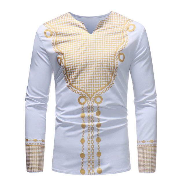 e07830d0516 US $14.98 49% OFF|African Tee Shirt Homme 2018 Brand New African Dashiki  Dress Shirt Men Tribal Ethnic Print T Shirt Traditional African Clothing-in  ...
