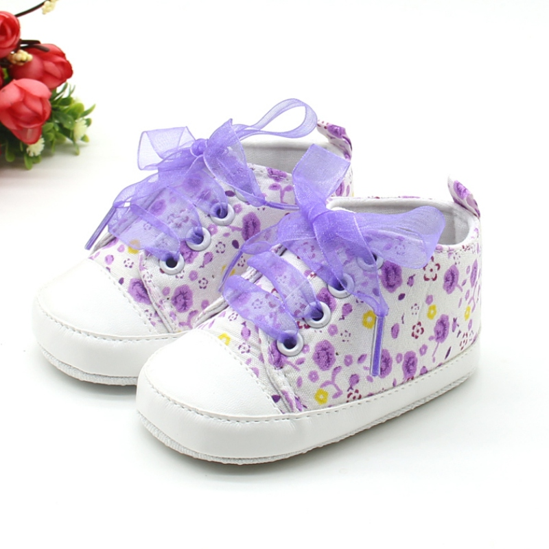Lace-Up Bow Tie Baby Girls Shoes Toddler Newborn Polka Dots Baby Shoes 2018 Classic First Walkers Sneakers Shoes