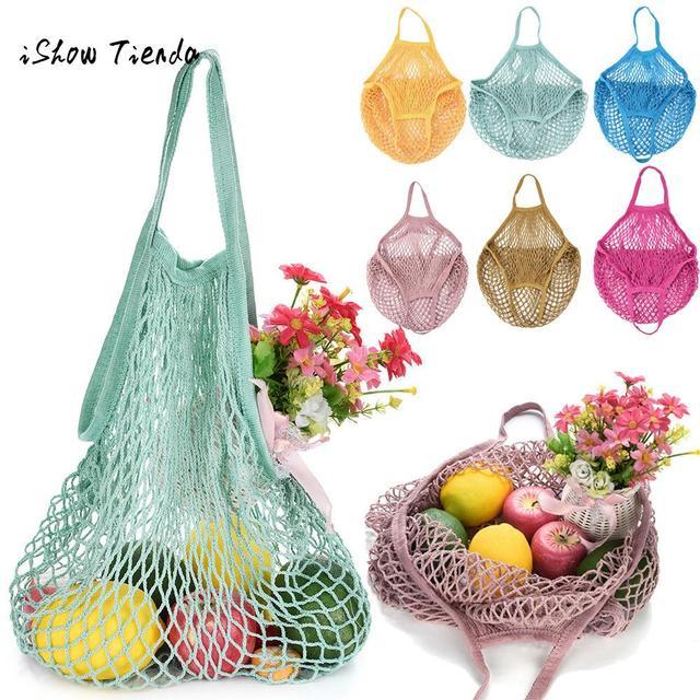 Сетка черепаха сумка авоська многоразовый хранения фруктов строка Shopper рук сумки складной большой Ёмкость Бакалея сумки