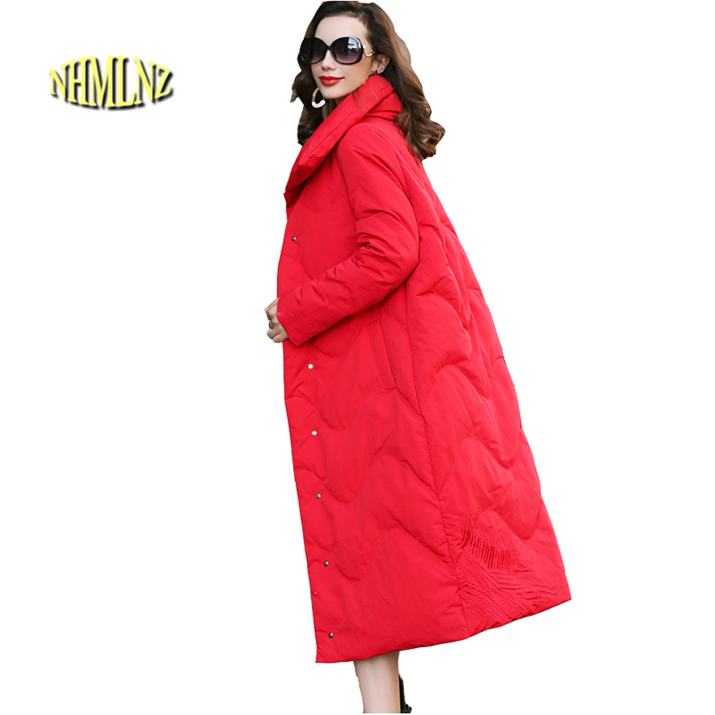Fashion Printing Women's   Down   jacket New Large size High quality Warm White duck   down   Folk-custom Women's   Down     Coat   LH367