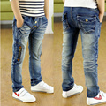 2016 Autumn new kids jeans fashion style with zipper decor children boys jeans for 4 to 10 years old B082