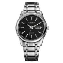 Fashion Luxury Brand SOLLEN Stainless steel Watch Automatic Men Wristwatch Men Mechanical Watches relogio masculino