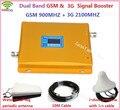 GSM 3G Dual Band Repetidor GSM 900 MHz 2100 MHz W-CDMA UMTS Repetidor 3G Amplificador de Sinal De Antena 2G 3G Impulsionador Do Telefone Móvel conjuntos