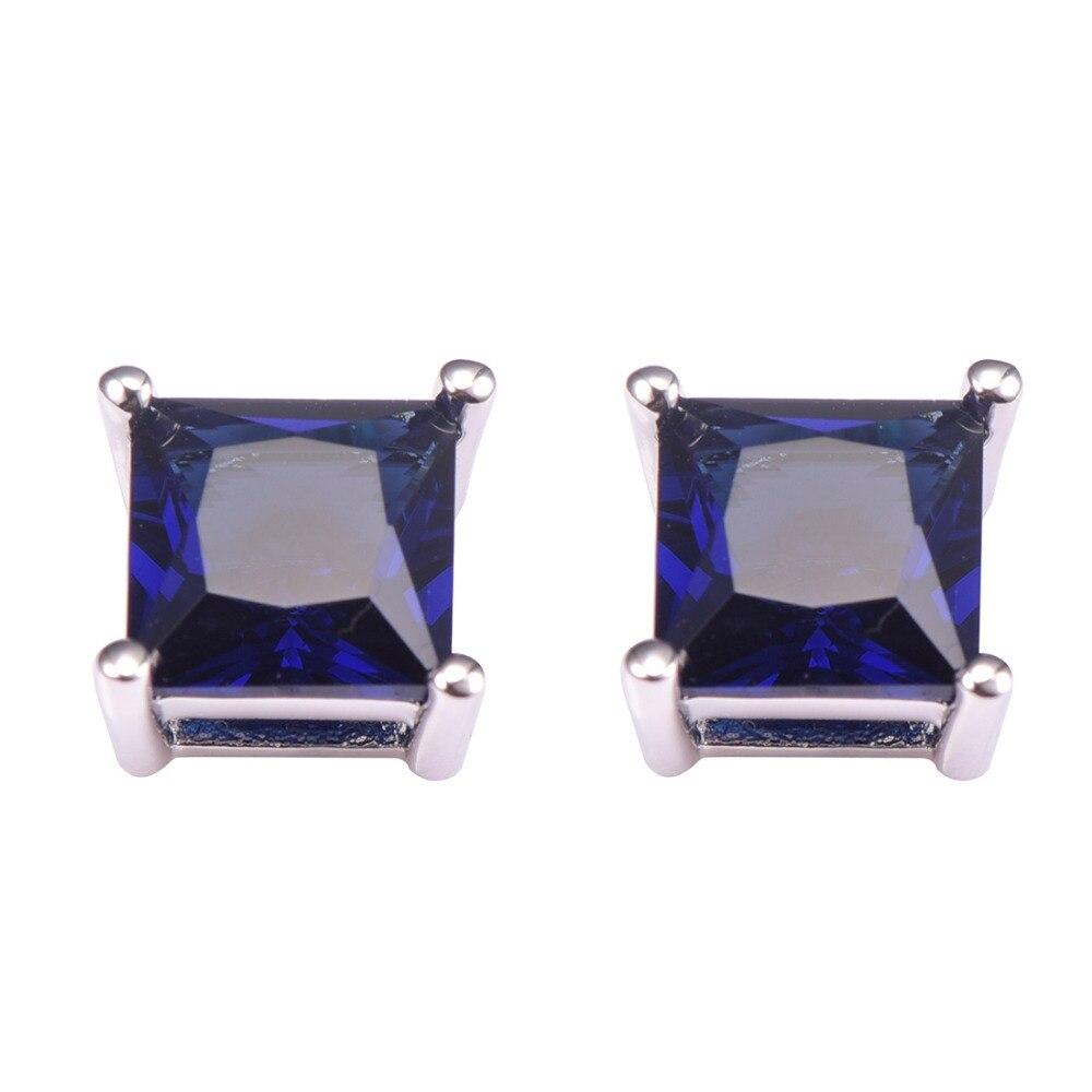 Новое поступление синий кристалл циркона Для женщин Серьги стерлингового серебра 925 Бесплатная доставка Новые Модные украшения Серьги pe48